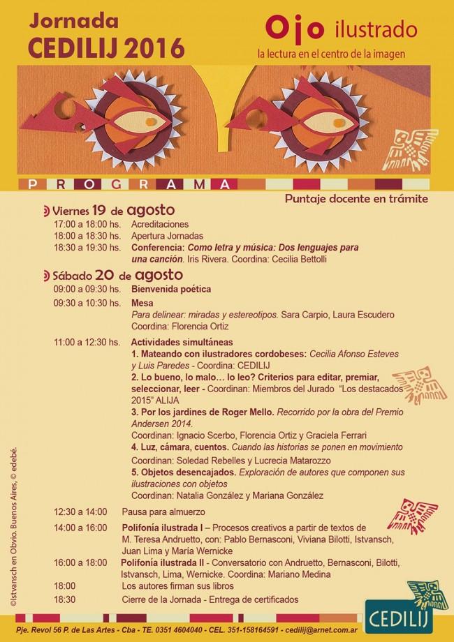 Programa Jornadas CEDILIJ 2016