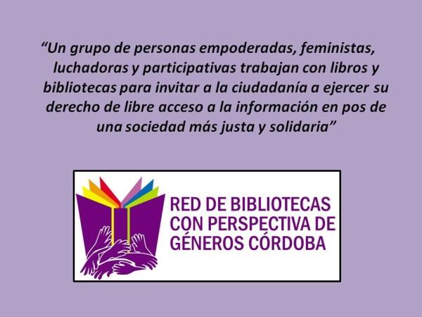 red de bibliotecas con perspectiva de géneros