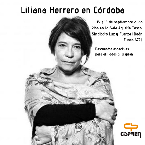 Liliana Herrero en Córdoba